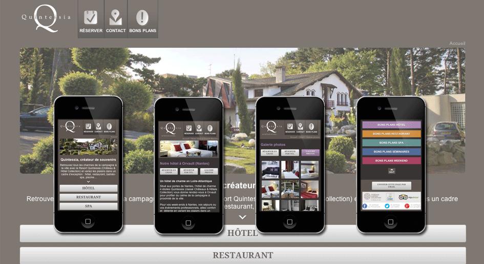 Développeur Drupal Freelance, réalisation : Quintessia mobile